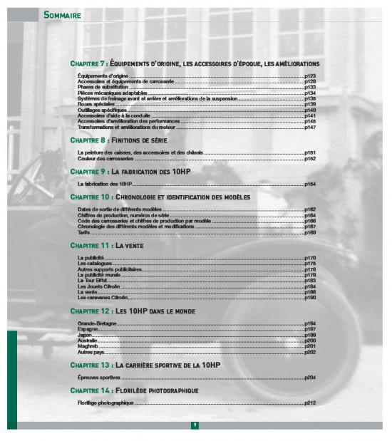 Sommaire 2 Livre 10HP